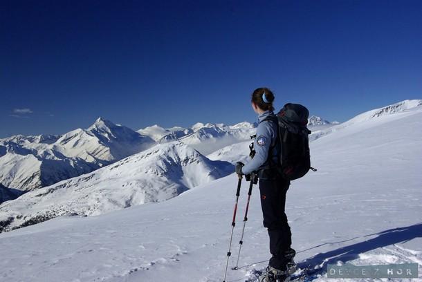 Luxusní výhled na Grossglockner. I na sněžnicích můžete podnikat hodnotné alpské túry a výstupy na vrcholy.