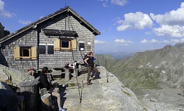 Rojacherhütte ve Vysokých Taurách (zdroj foto. Naturfreunde.at)