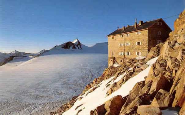 Brandenburger Haus - nejvýše položená chata v rakouských Alpách. (zdroj foto: www.oberoeberst.de
