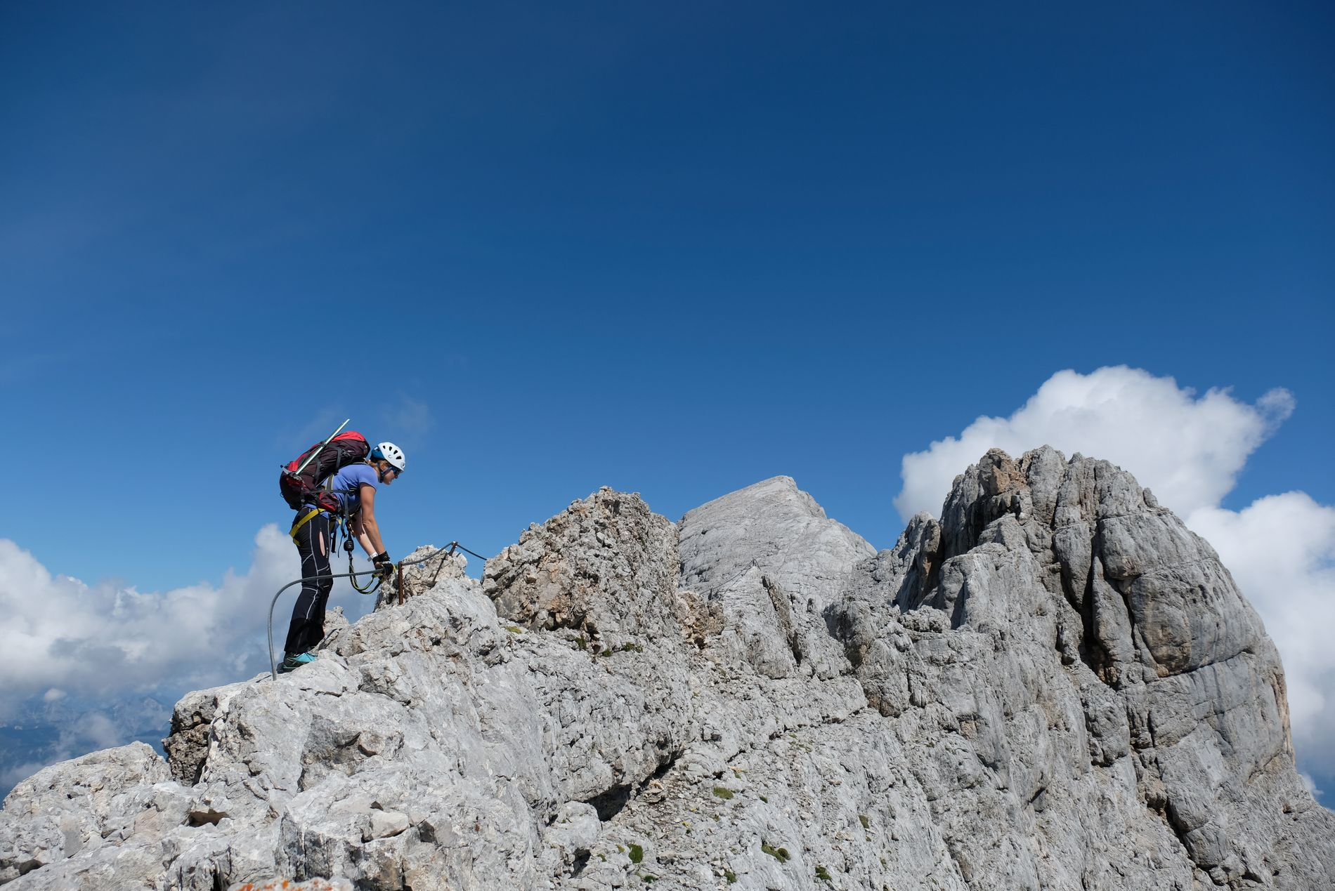 Ferratový přechod masivu Dachsteinu
